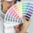 Womdecorator showing swatches — Stock Photo #11798713