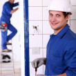 Electrical work — Stock Photo