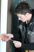 électricien câblage d'une maison — Photo