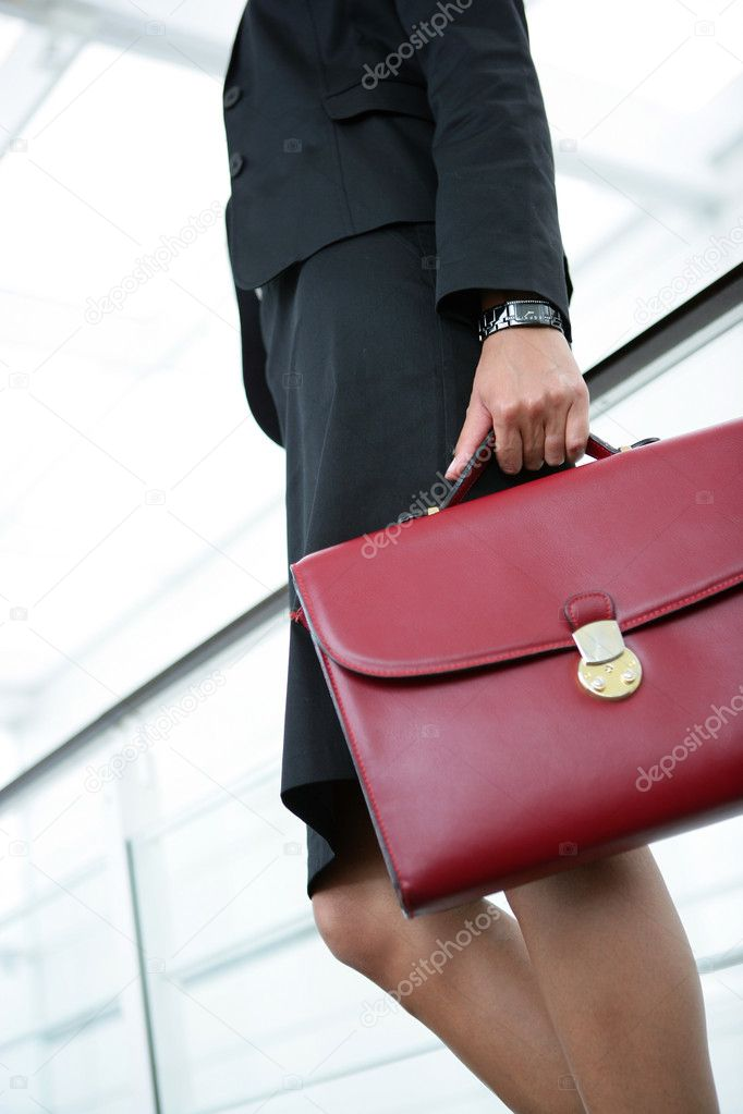 Businesswoman holding briefcase — Stock Photo #11809908
