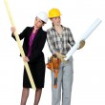Architect and builder job swap — Stock Photo #11810578