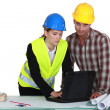 Architect and foreman working together — Stock Photo #11845784