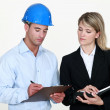 A couple of architects. — Stock Photo
