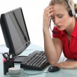 Stressed call-center operative — Stock Photo #11845882