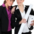 Female architect duo — Stock Photo #11846215
