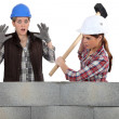 Destroying a wall. - Stock Photo