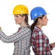 Two female carpenters — Stock Photo #11846318