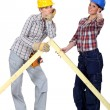 Female builders - Foto Stock