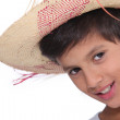Portrait of child wearing a hat — Stock Photo