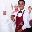 Coloured sommelier and co — Stock Photo #11846737