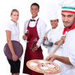 Waiter and waitress - Stock Photo