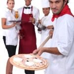 Pizzeria staff — Stock Photo #11846751