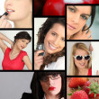 Women and beauty — Stockfoto