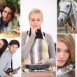 Stock Photo: Collage of active young