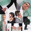 Gestures at work — Stock Photo