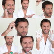 Stock Photo: Montage of male grooming