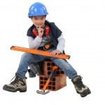 Little girl dressed as mason — Stock Photo #11847132