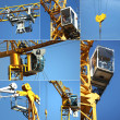 Collage of a crane - Stockfoto