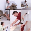 Stock Photo: Montage of DIY