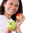 Woman with apples — Stock Photo #11847196