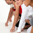 Runners training - Stock Photo