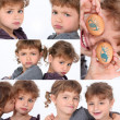 Various shots of young sisters — Stock Photo