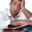 Stockfoto: Overwhelmed worker