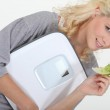 Woman on a diet — Stock Photo