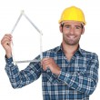 Happy constructor — Stock Photo