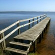 Wooden jetty - Stock Photo