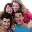 Happy young foursome — Stock Photo