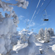 Stock Photo: Mountain chairlift