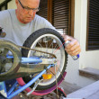 Stock Photo: Mfixing bike