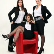 Stock Photo: Trio of sexy businesswomen