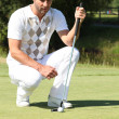Golfer putting — Foto de Stock