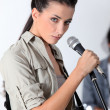 Stock Photo: Musical woman