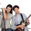 Stock Photo: Teenage band
