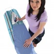 Woman ironing male's shirt — Stock Photo #11847985