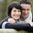 Foto Stock: Couple outdoors