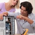 TV repairman — Stock Photo