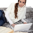 A cute girl studying. — Stock Photo