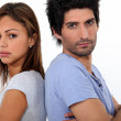 Stock Photo: Couple in bad mood