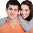 Young couple embracing — Stock Photo #11848342