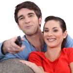 Couple enjoying a film together — Stock Photo #11848418