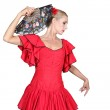 Spanish dancer with hand fan — Stock Photo #11848563
