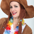 Womin Hippy Fancy Dress Costume — Stock Photo #11848903