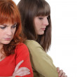 Women angry with each other — Stock Photo