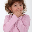 Shocked little girl — Stock Photo