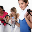 Young women at the gym — Stock Photo