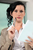 Confused office worker — Stock Photo